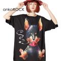 ankoROCKスモーキングダーティードーベルマンTシャツ -メガビッグ-