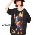 ankoROCK首つりダーティードーベルマンTシャツ -メガビッグ-
