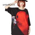 ankoROCKキツツキハートTシャツ -メガビッグ-