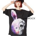 ankoROCKウサギドクロTシャツ -メガビッグ-