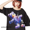 ankoROCKテディベア刺殺事件Tシャツ -メガビッグ-