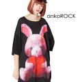 ankoROCKハートブレイクウサギTシャツ -メガビッグ-