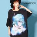 ankoROCK水彩首吊りガールTシャツ -メガビッグ-
