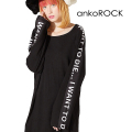 ankoROCK I WANT TO DIE...カットソー -メガビッグ-