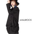ankoROCKサイドコード変形ドレープシャツ -スーパービッグ-