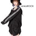 ankoROCKサイドコード変形ドレーププルオーバーセーラージャージ -スーパービッグ-