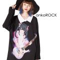 ankoROCKダーティーガールズバンド『THE ヤミー』 (ギター/リスカ)シャツ襟カットソー -メガビッグ-