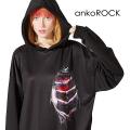ankoROCK見えハートプルオーバーパーカー -スーパービッグ-