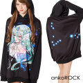 ankoROCKゾディアックガールズ『うお座ちゃん』プルオーバーパーカー -スーパービッグ-