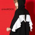 ankoROCK天使の羽半袖プルオーバーパーカー -スーパービッグ-