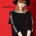 ankoROCKI WANT TO DIE...ラインセーラーTシャツ -メガビッグ- SALE