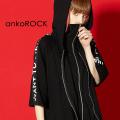 ankoROCKI WANT TO DIE...半袖ダブルフロントパーカー -スーパービッグ-