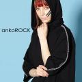 ankoROCKジップライン半袖プルオーバーパーカー -スーパービッグ-