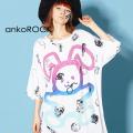 ankoROCKダーティ&キュートラビットTシャツ -メガビッグ-