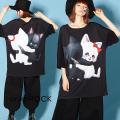 ankoROCKLOVE IS OVERネコTシャツ -メガビッグ-