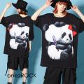 ankoROCKLOVE IS OVERパンダTシャツ -メガビッグ-