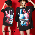 ankoROCKLOVE IS OVERウサギTシャツ -メガビッグ-