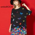 ankoROCKバラバラ折り鶴Tシャツ -メガビッグ-