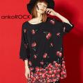 ankoROCKバラバラチェリーTシャツ -メガビッグ-