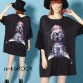 ankoROCKウソ泣き女の子Tシャツ -メガビッグ-