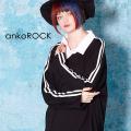 ankoROCKシャツ襟カットソー アバンギャルドジャージー -メガビッグ-