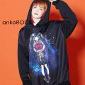 ankoROCKアサシン【花束にナイフ】プルオーバーパーカー -スーパービッグ-