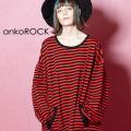 ankoROCK 赤黒ボーダーカットソー -オーバーサイズ-