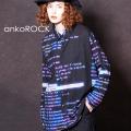 ankoROCK レトロ端末病みかわremixシャツ -スーパービッグ-