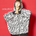 ankoROCK 『動物のキモチ』シマウマパーカー -オーバーサイズ-