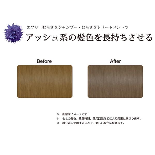 エブリ むらさきシャンプー むらさきトリートメント アッシュ系の髪色 使用イメージ