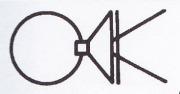 掛花金具 (銅製) 丸