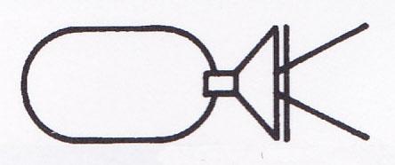 掛花金具 (銅製) だ円