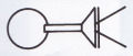 掛花金具 (銅製) 丸3