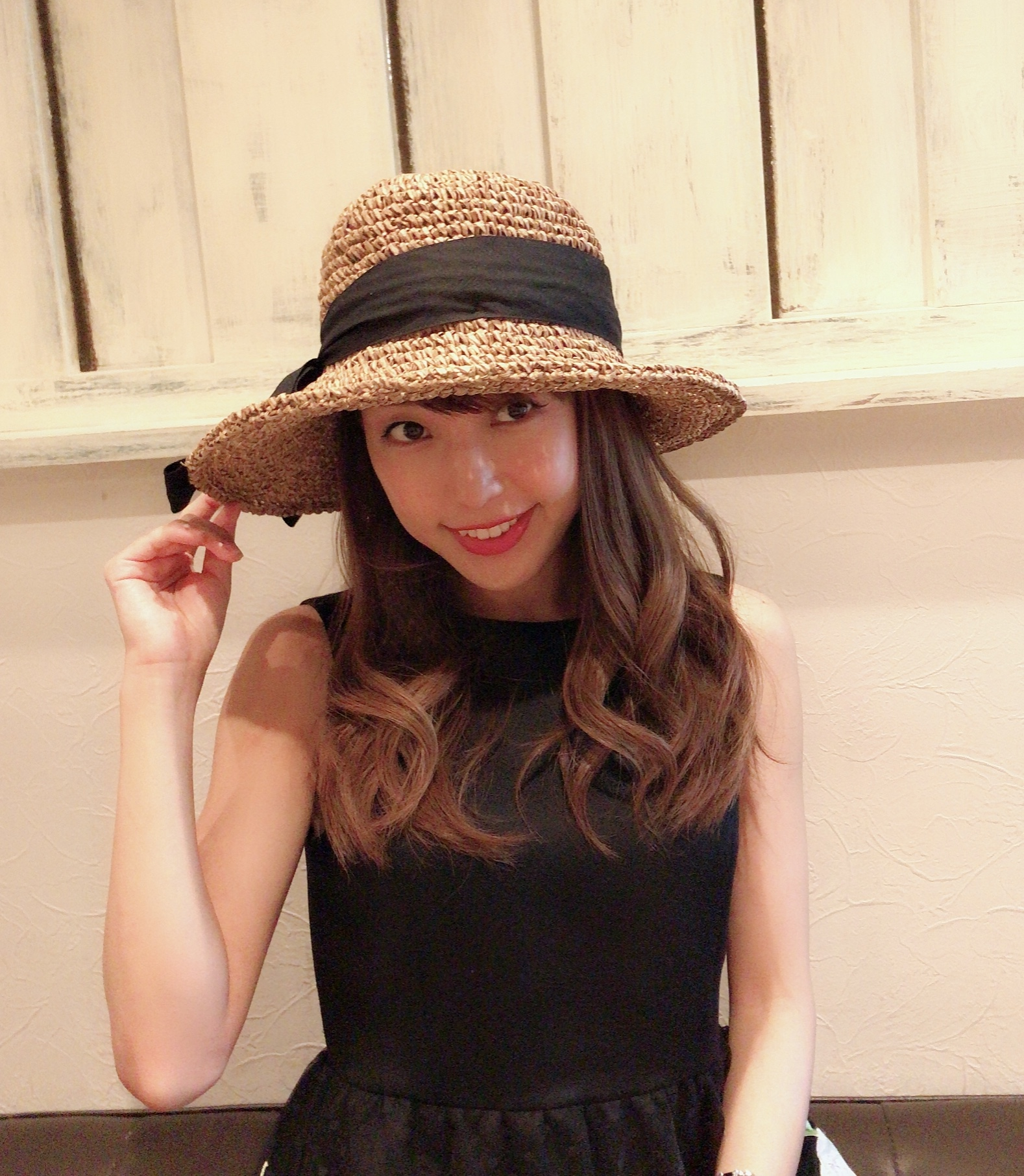 【selva secreta】RIBBON HAT(brown-beige)
