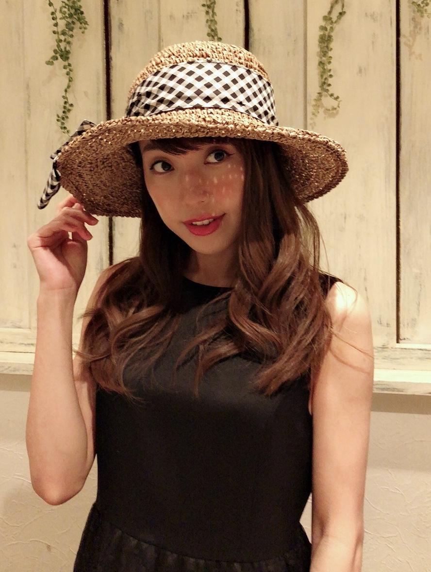 【selva secreta】RIBBON HAT(限定check-ribbon×brown-beige)