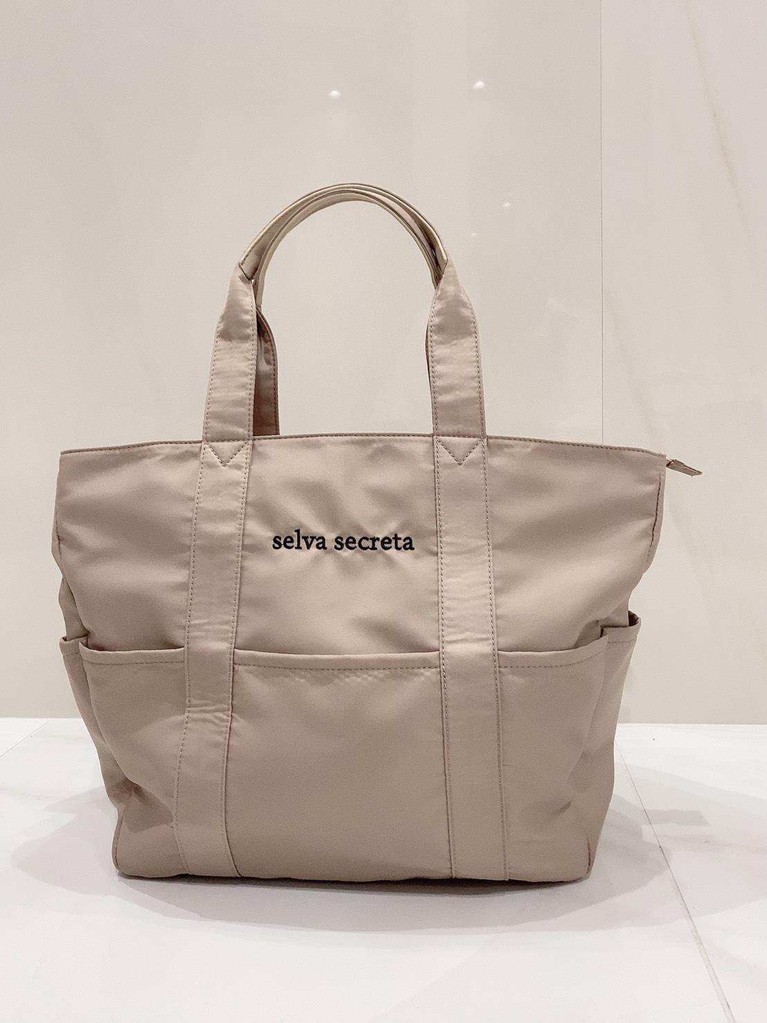 【selva secreta】useful TOTE BAG(light-beige)
