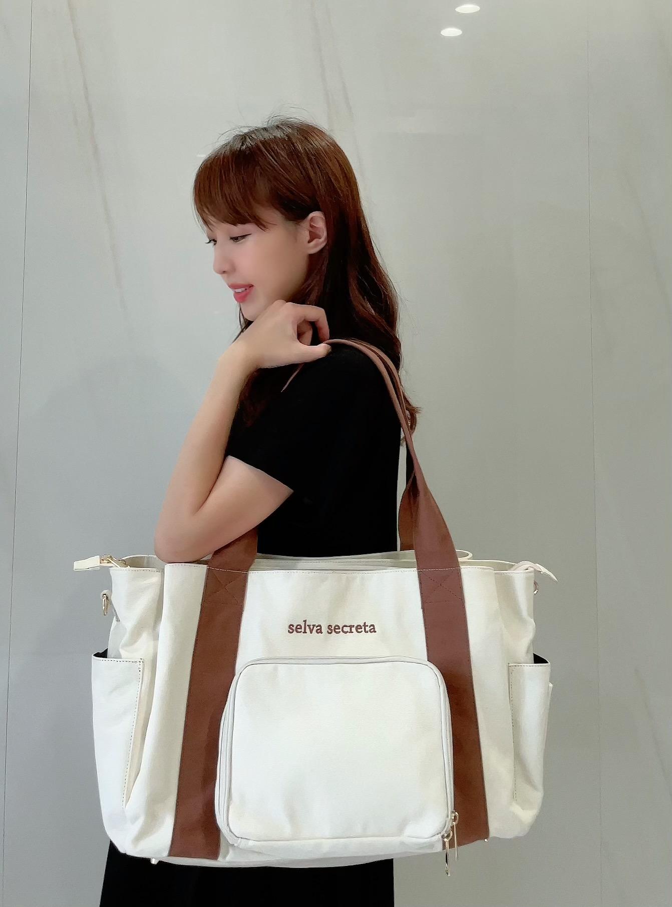 3-layer MOM TOTE BAG(white)