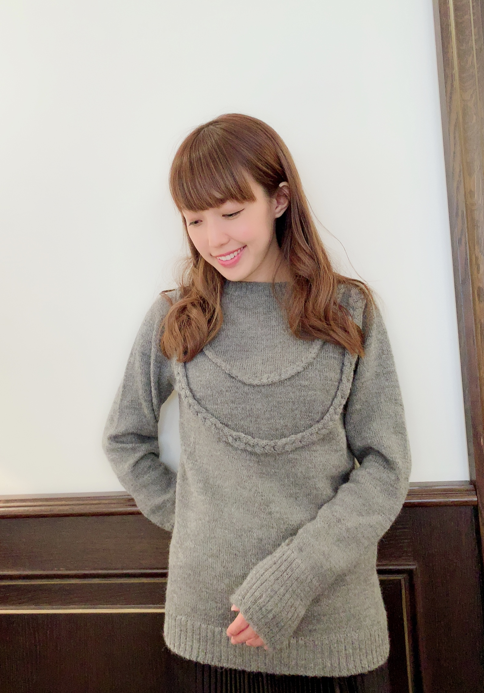 【selva secreta】ALPACA ROPE KNIT(gray)