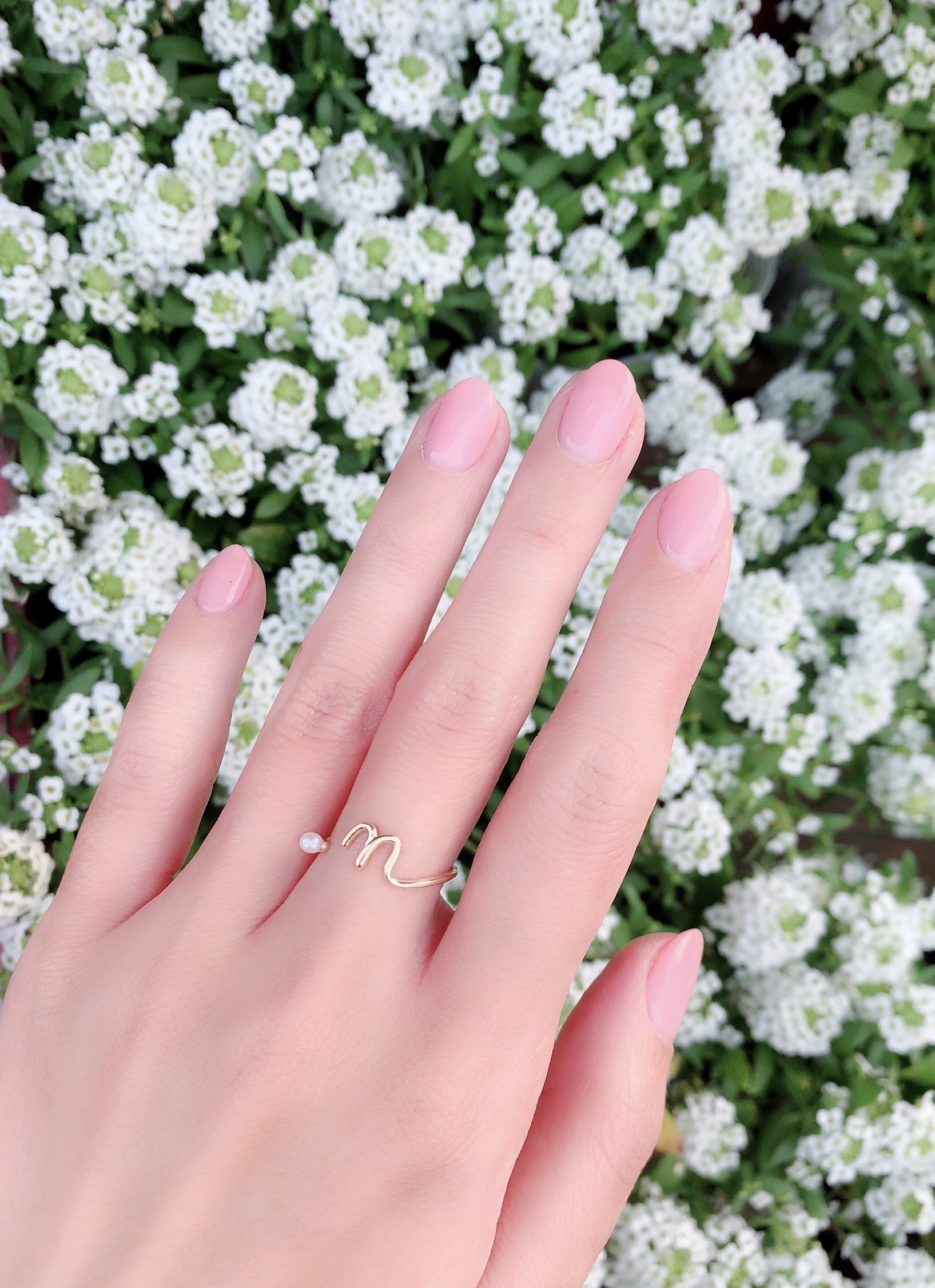 【selva secreta】Initials pearl ring