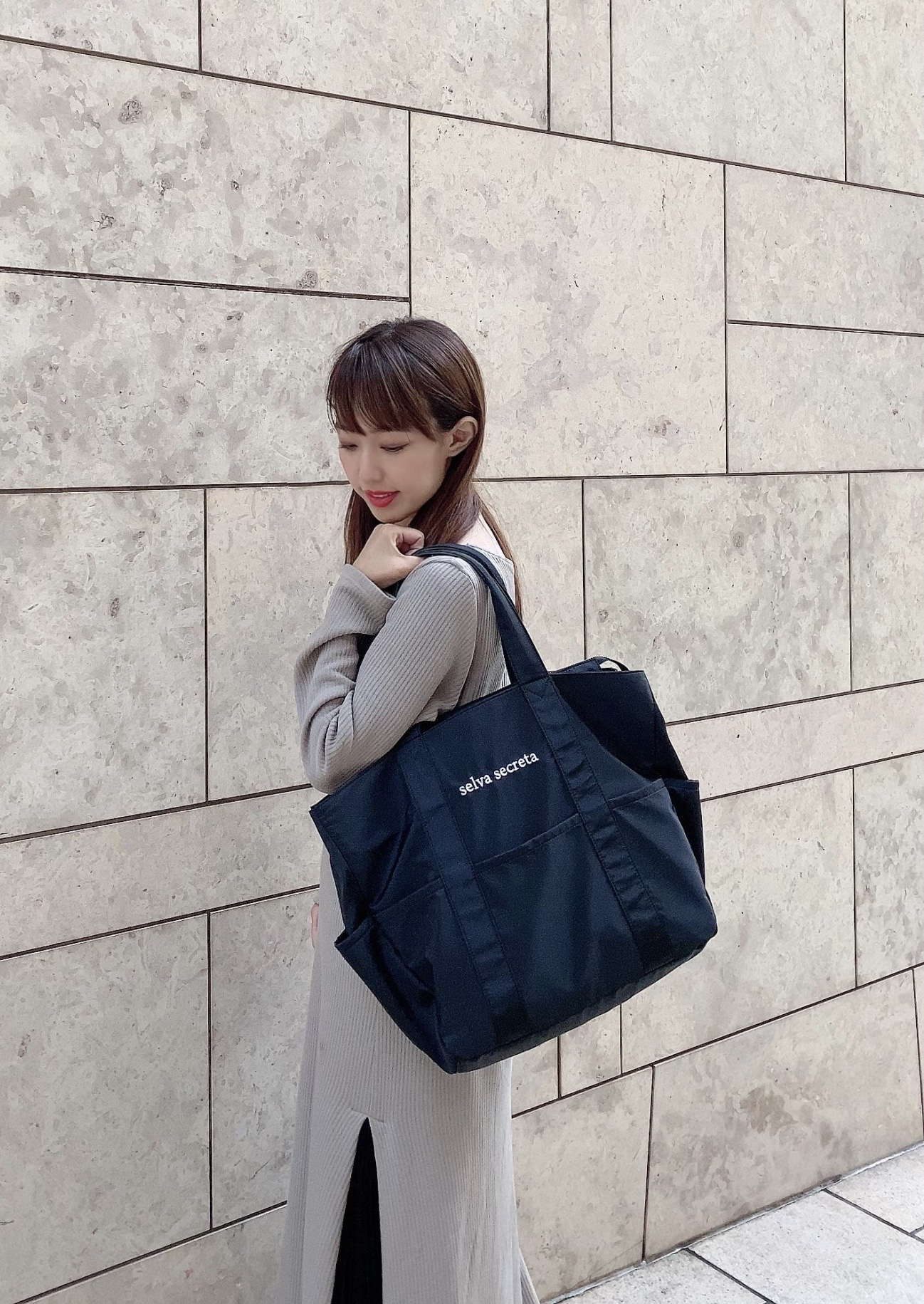 【selva secreta】useful TOTE BAG(black)