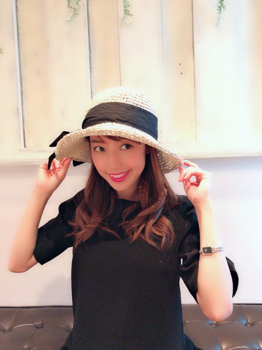 【selva secreta】RIBBON HAT(white-beige)