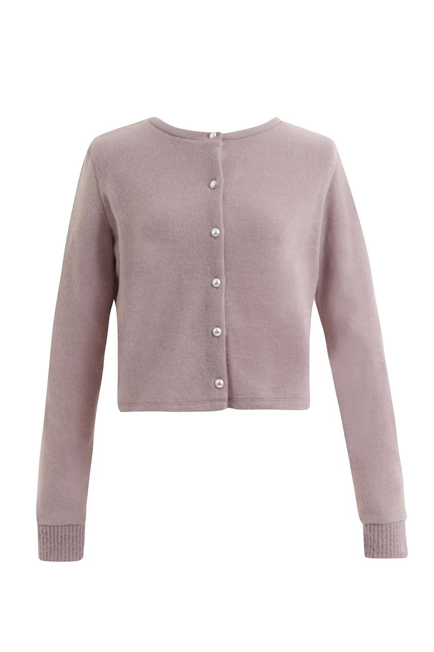 【selva secreta】LADY CARDE(pink-gray)(pearl-button)