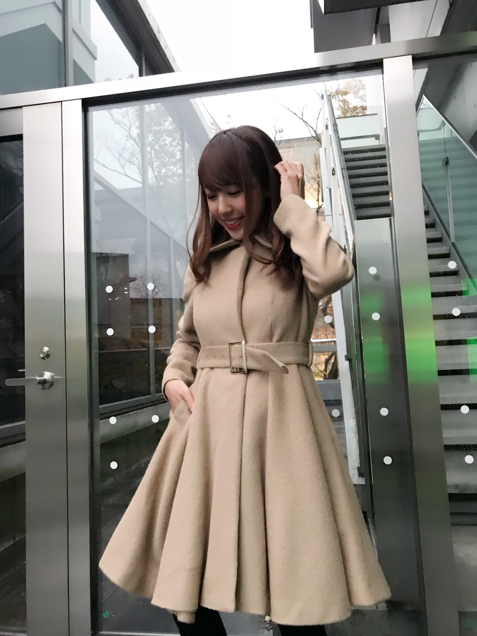 【selva secreta】ALPACA FLARED  COAT(beige)