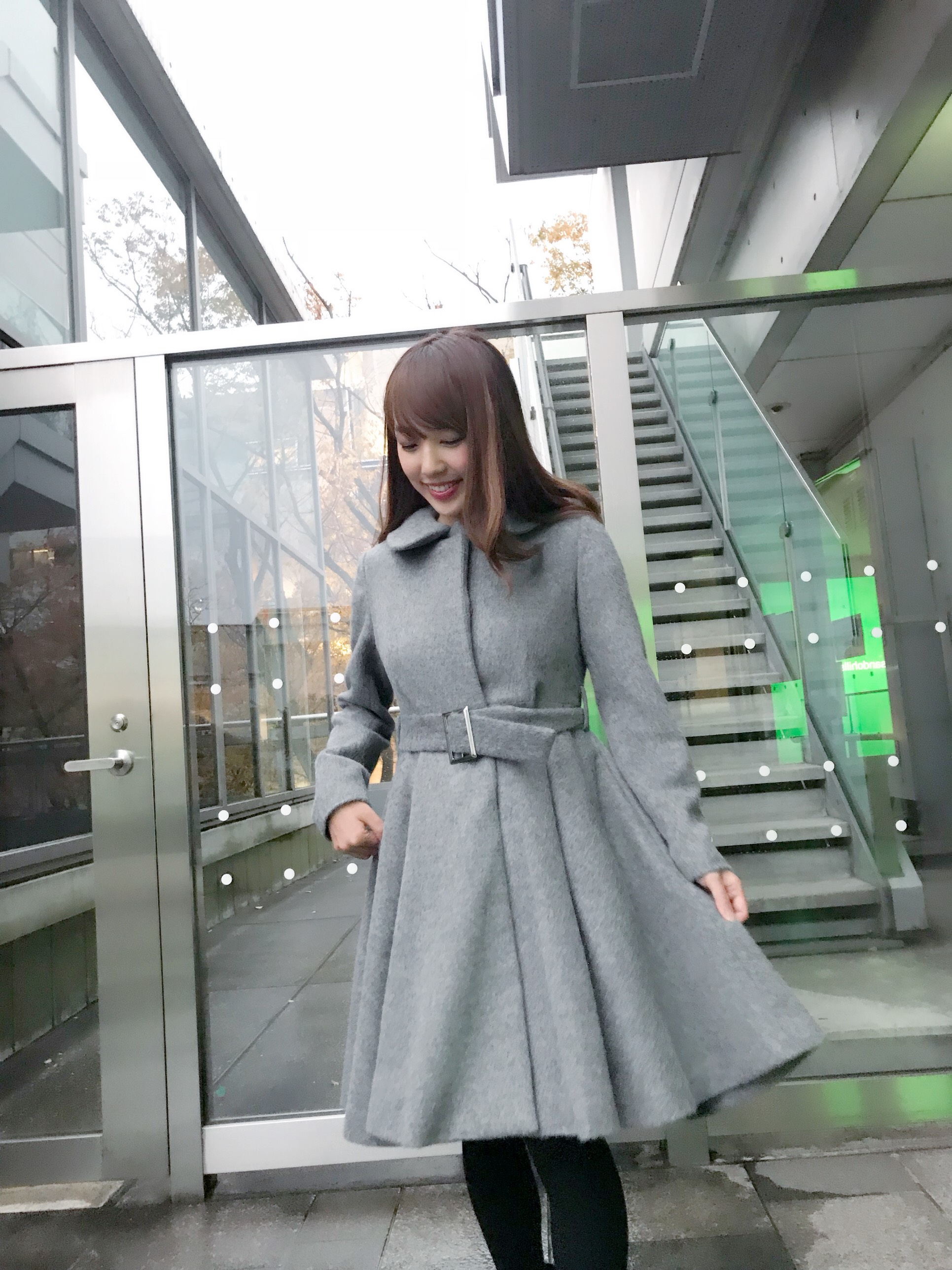 【selva secreta】ALPACA FLARED  COAT(gray)