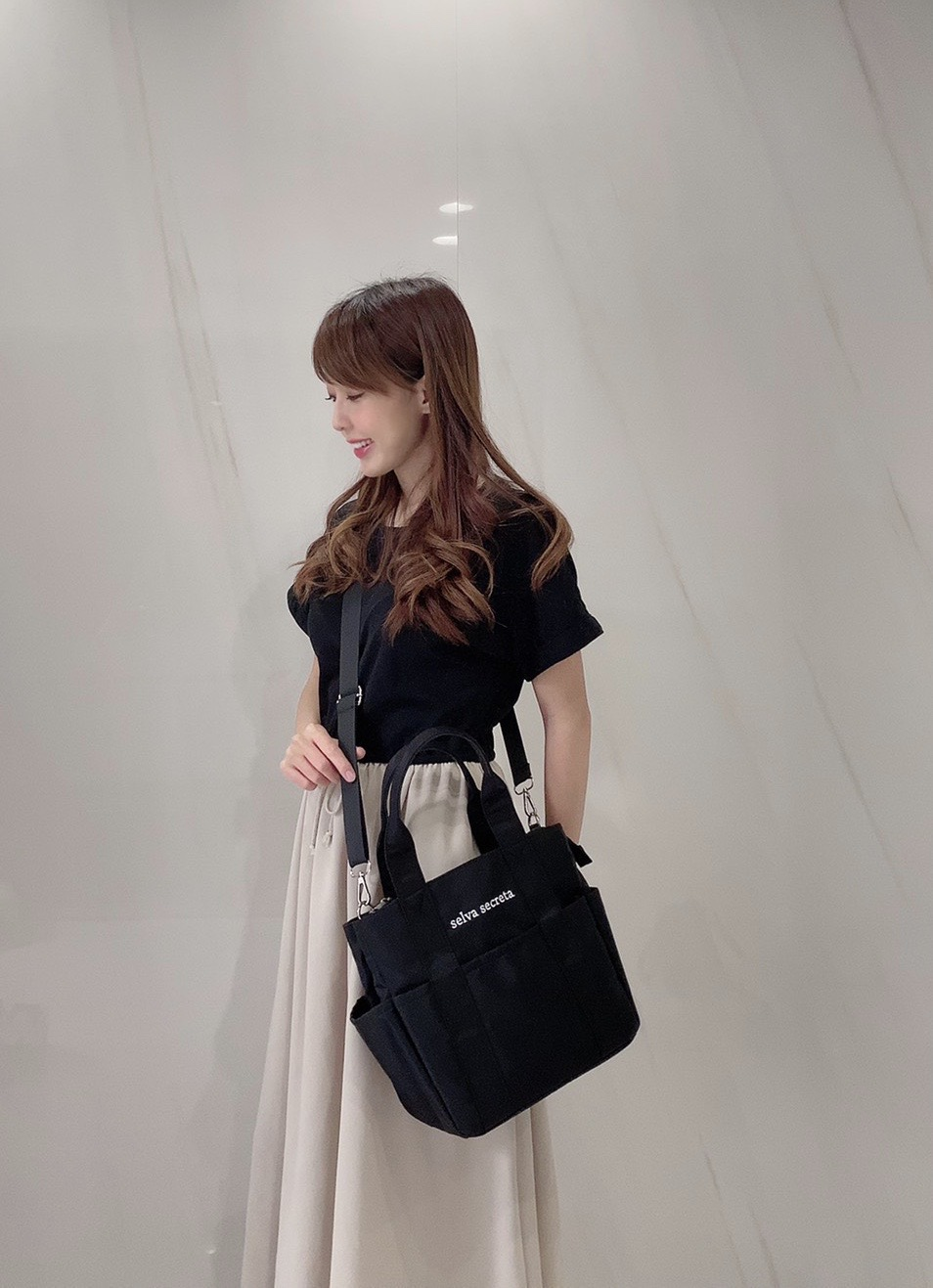 【selva secreta】useful TOTE BAG mini(black)