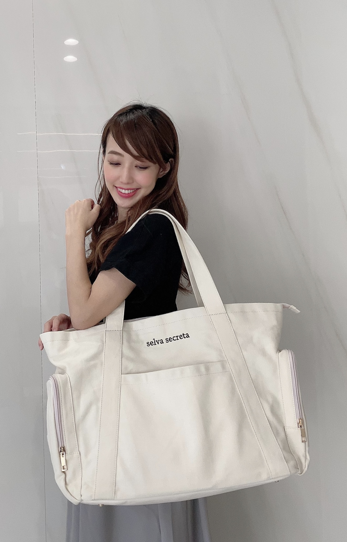 【selva secreta】MOM TOTE BAG(white)