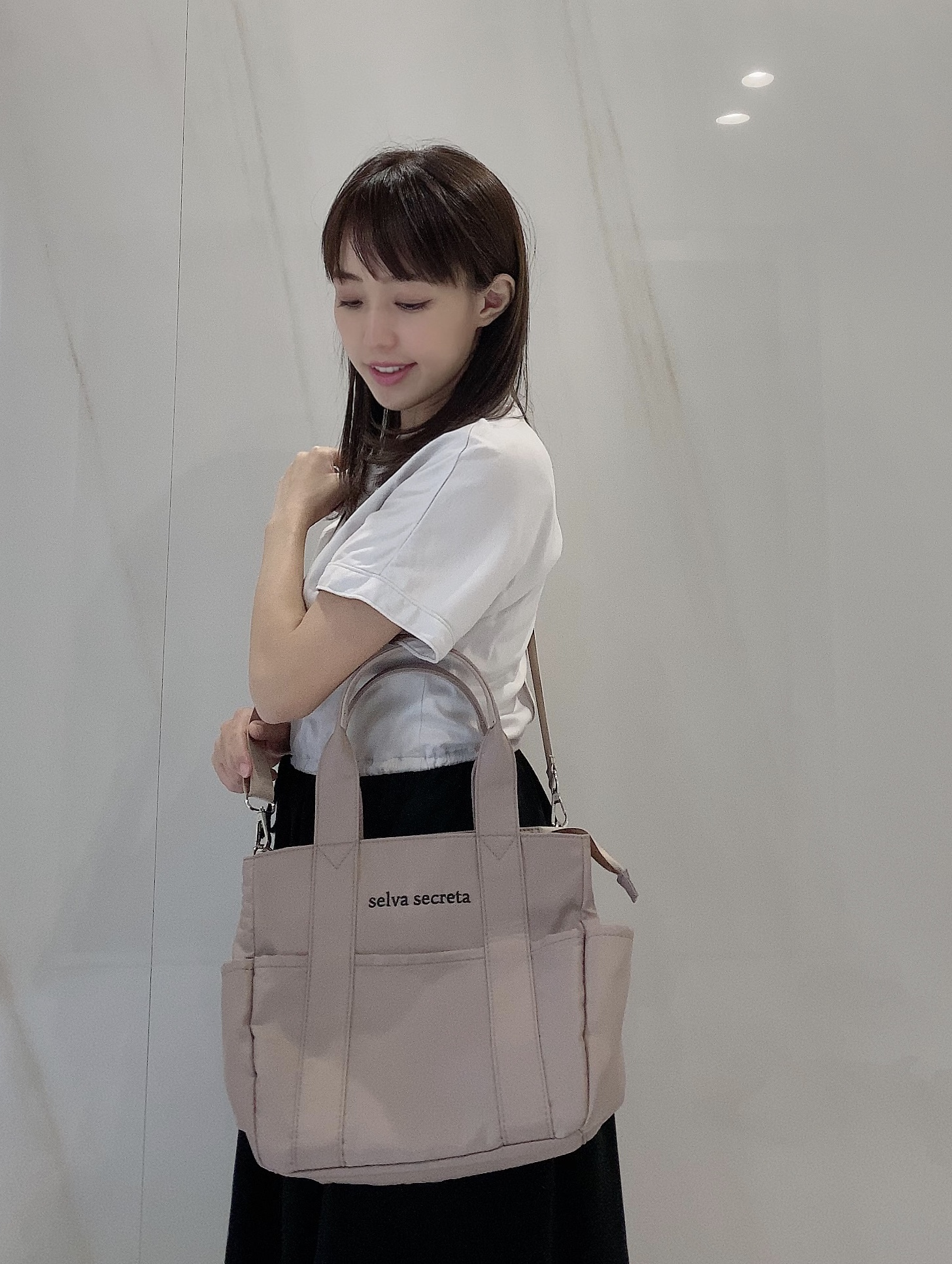 【selva secreta】useful TOTE BAG mini(light-beige)