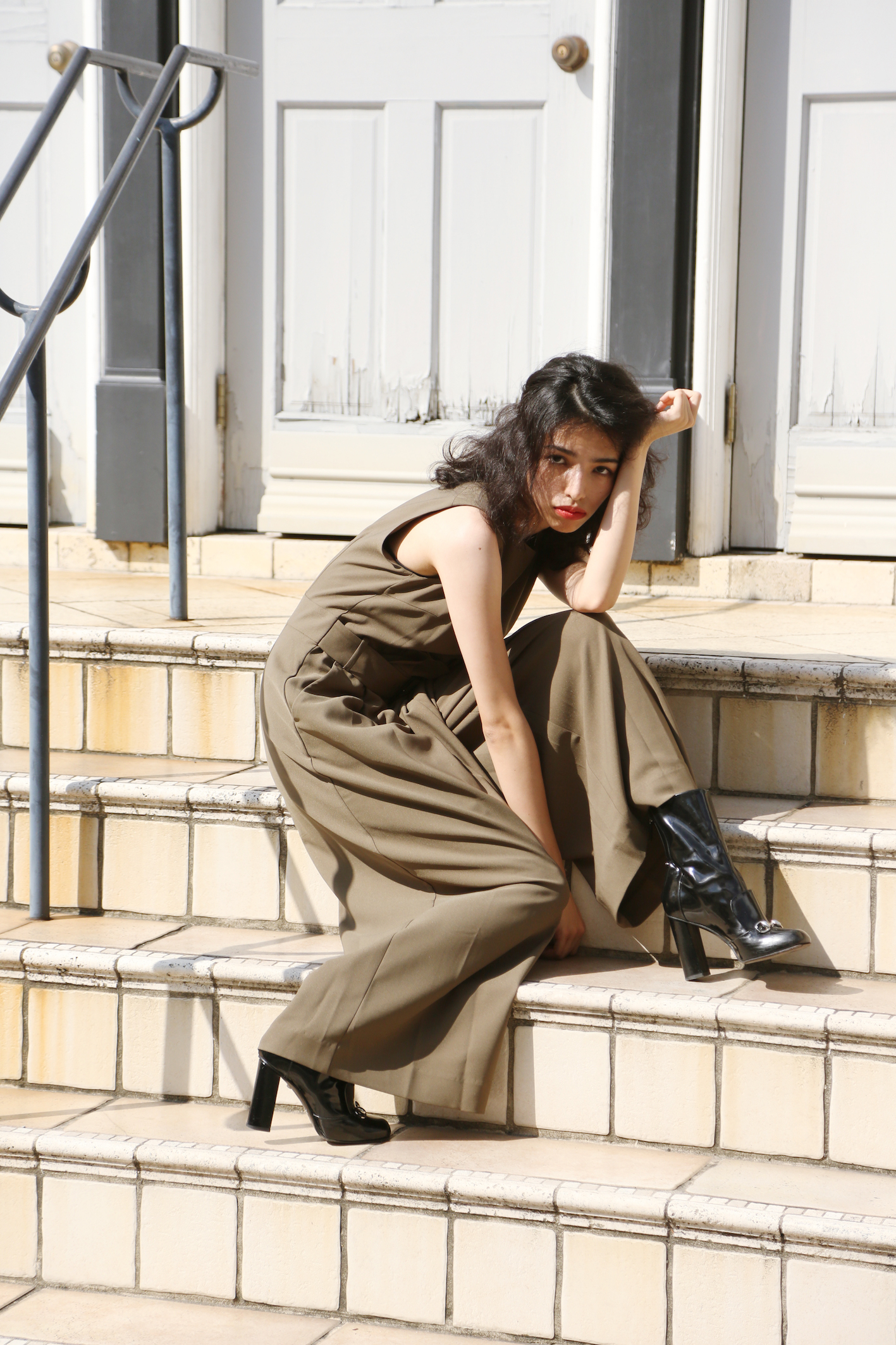 【selva secreta】ASYMMETRY ALL IN ONE (khaki)