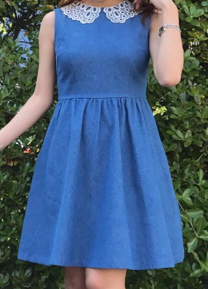 【selva secreta】DENIM LACE DRESS (light blue)