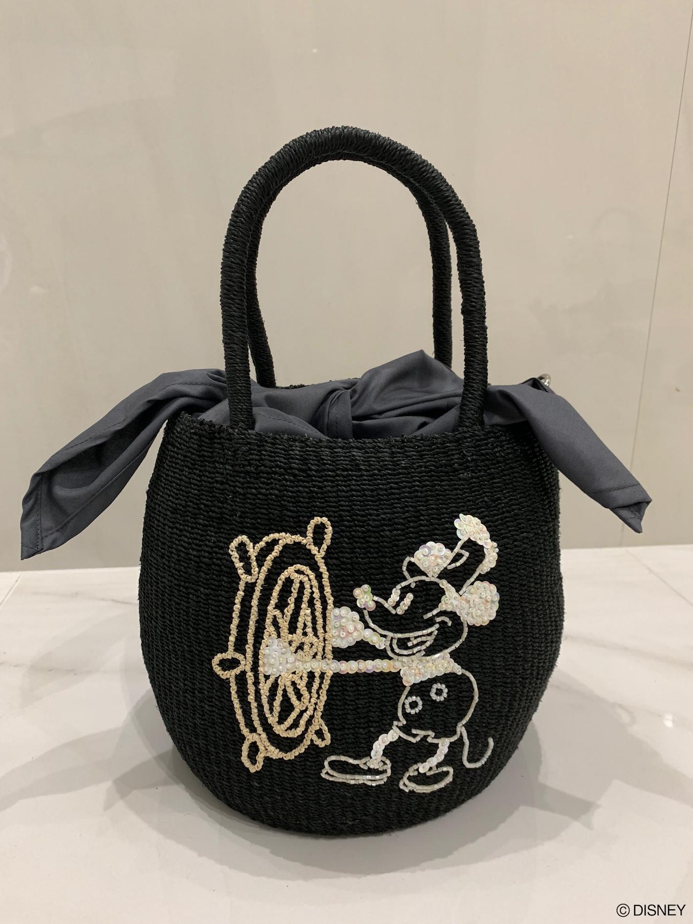 【selva secreta】Disney Mickey Mouse basket bag(black)